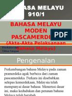 Bahasa Melayu Pascamerdeka Penggal 1 STPM