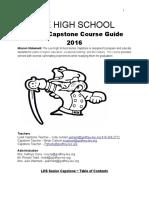 Senior Capstone Course Guide