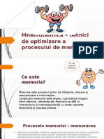 Mnemotehnica – Tehnici de Optimizare a Procesului de (1)