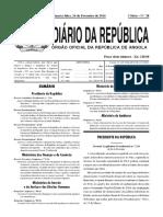 Dec.pres. Nº 40-16_Linhas Mestras Da Estratégia Para a Saída Da Crise Derivada Da Queda Do Preço Do Petróleo No Mercado Internacional