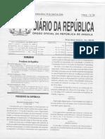 Dec.pres. Nº 77-16_Organização e Funcionamento Dos Órgãos Do Governo Da Província de Luanda