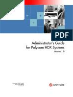 Videoconferencing Polycom Hdx Series Administrators Guide