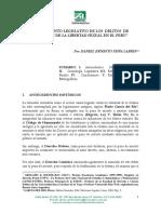 PEÑA LABRIN, Daniel. Tratamiento Legislativo de Los Delitos de Violación de La Libertad Sexual en El Perú