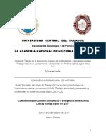 Primera Circular Congreso Quito 20161