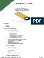 Tutorial de Software FEM - Prozess