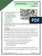 Lec 02 Intersection Design
