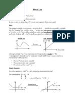 AMath - Linear Law