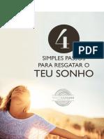 eBook 4 Simples Passos Para Resgatar o Teu Sonho