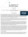 The Failure of Federal Job Training, Cato Policy Analysis