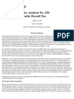 Cut the Social Security Payroll Tax, Cato Policy Analysis