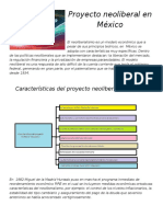 Actividad 3 Proyecto Neoliberal en México