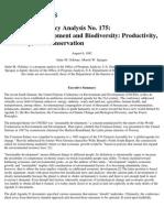 Sustaining Development and Biodiversity