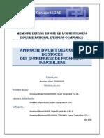 Approche d'Audit Des Comptes de Stocks Des Entreprises de Promotion ImmobilIère