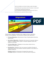 Migration process in petroleum engineering