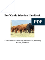 Beef Cattle Selection Handbook