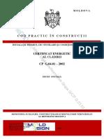 CP_G.04.01-2002 Certificatul Energetic Al Cladirii