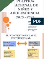 Política Nacional de Niñez y Adolescencia. Equipos de Practicas OPD 2016.