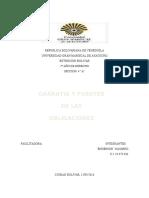 Garantia y Funetes de Las Obligaciones enRoma