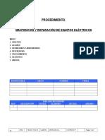 PT-ELCN-07 Rev-1 Mantención y Rep de Equipos Eléctricos