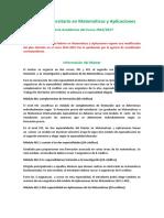 Oferta Academica Matematicas 16-17