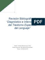 Revisión Bibliográfica I Diagnostico en intervención en el TEL