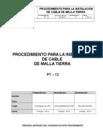 PT-12 Procedimiento Para La Instalación de Cable de Malla a Tierra_Rev2