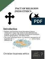 Impactul religiei in afaceri.