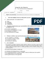 Evaluacion de Los Romanos 3º Básico (2)