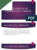Reacciones de Ac Carboxilicos y aminas