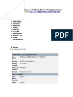 Federal Reserve Routing Numbers