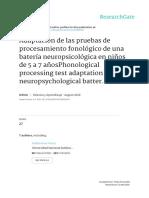 Procesamiento Fonológico y Léxico Niños Primaria-2010-Yáñez, Reynoso