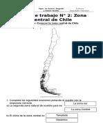 Ficha N°2 Zona central de Chile
