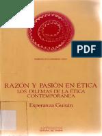 Guisan, Esperanza - Razon y Pasión en Ética. Los Dilemas de La Ética Contemporánea Ed. Anthropos 1986