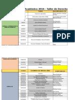 Plan Académico 2016 - TDA