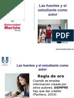 Las Fuentes y El Estudiante Como Autor