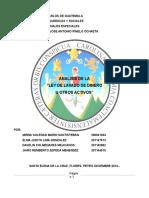 Trabajo Final Seminario Ley Contra El Lavado de Dinero Diciembre 2014