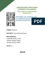 Informe Laboratorio 1 Identificacion de Enlaces Quimicos