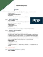 Especificaciones Tecnicas Cerco Perimetrico ORDUÑA