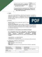 Procedimientos Instructivos de Registros Del Servicio de Porteria y Seguridad Privada de La Universidad Catolica Boliviana San Pablo