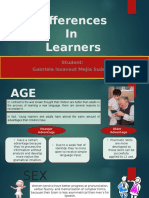 Differences in Learners