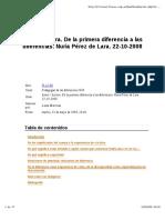 De La Primera Diferencia a Las_PEREZ_de_LARA