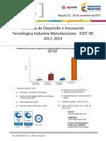 Boletin Edit Manufacturera 2013 2014-Estdisticas Dane