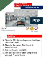 Pelayanan Sterilisasi RS Dlam Rangka PPI - Fitri Arman, S.si, Apt, M.epid
