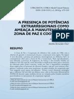 A PRESENÇA DE POTÊNCIAS  EXTRARREGIONAIS COMO  AMEAÇA À MANUTENÇÃO DA  ZONA DE PAZ E COOPERAÇÃO.pdf