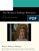 the womens suffrage movement