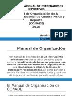 Manual de Organización de CONADE