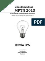 Analisis Bedah Soal SBMPTN 2013 Kimia IPA.pdf