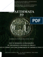 Mpanē - The numismatic iconography of the Roman colonies in Greece
