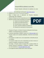 Guía Para La Entrega Del PEI de Academias de Cursos Libres