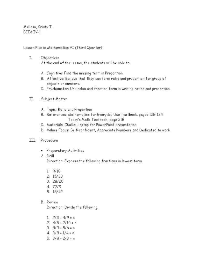 Lessonplaninmath6 Ratioandproportion 150816093521 Lva1